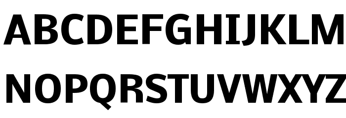 Nobile Bold Font UPPERCASE