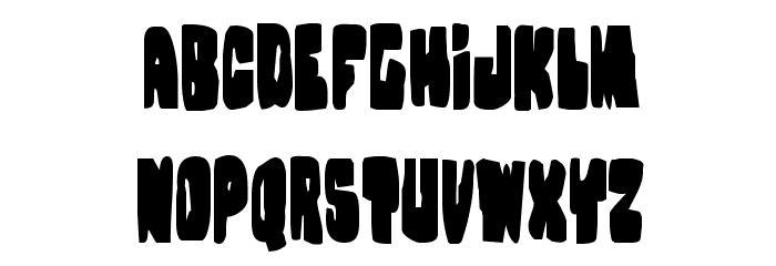 Nobody's Home Condensed Font Litere mari