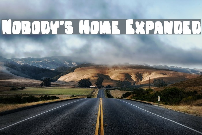 Nobody's Home Expanded Font examples