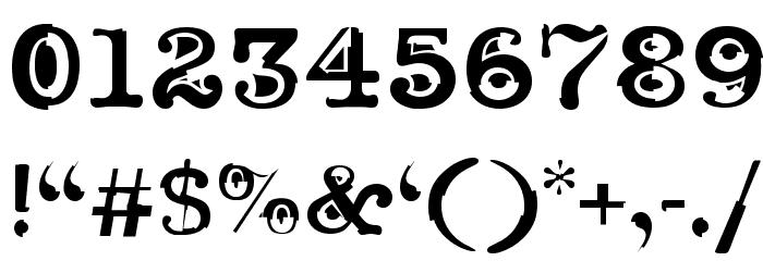 Noir Filled Font OTHER CHARS