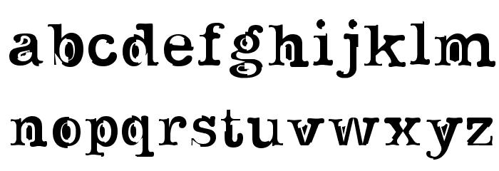 Noir Filled Font LOWERCASE