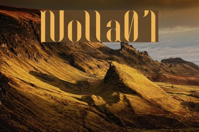 Nolla01 Font examples