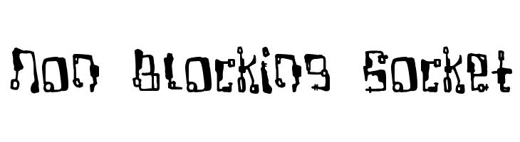 Non Blocking Socket Font - free fonts download