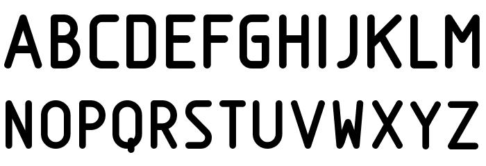 Nordica  Bold Font Litere mari