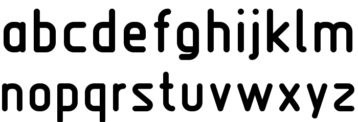 Nordica  Bold Font LOWERCASE