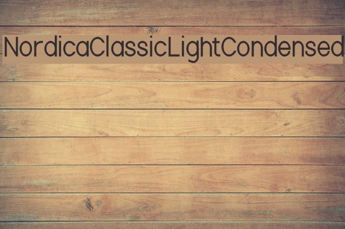 Nordica Classic Light Condensed Font examples
