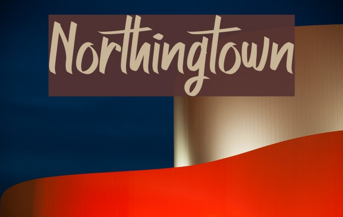 Northingtown Font examples