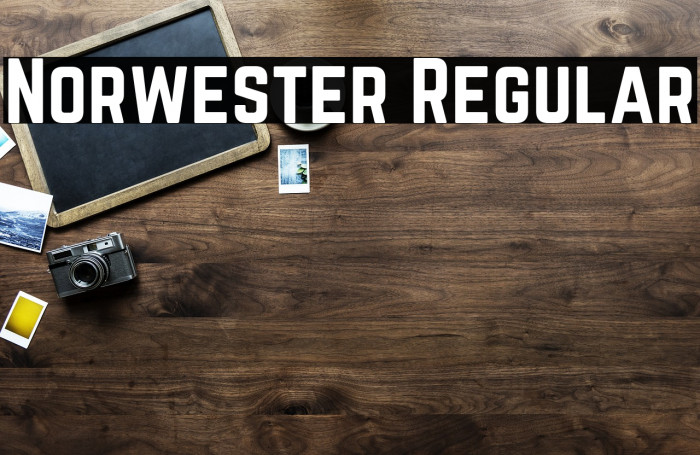 Norwester Regular फ़ॉन्ट examples