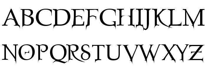 Nosfer Font UPPERCASE