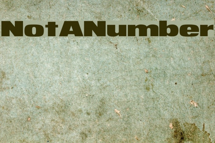 NotANumber Font examples