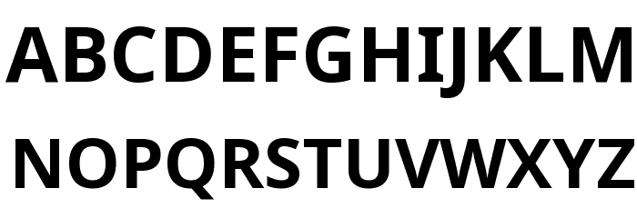 Noto Sans Bold Font UPPERCASE