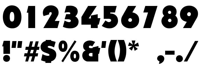 Nougat ExtraBlack Font OTHER CHARS