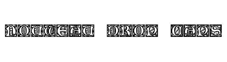 Nouveau Drop Caps  Скачать бесплатные шрифты