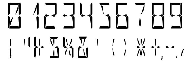 Nova Display Regular Шрифта ДРУГИЕ символов