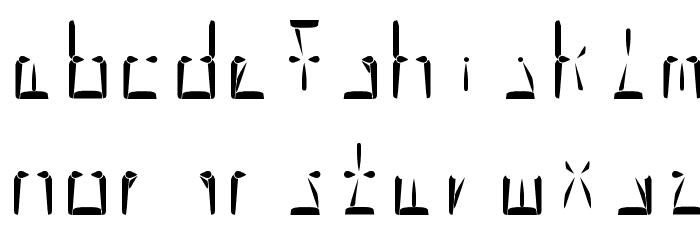 Nova Display Regular Шрифта строчной