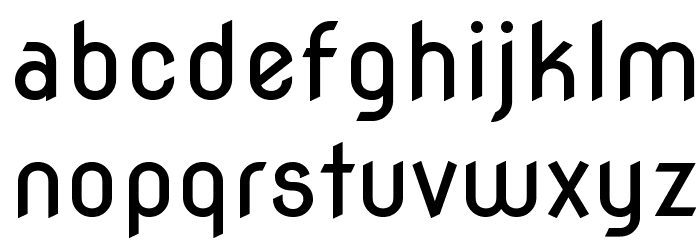 Nova Round Font LOWERCASE