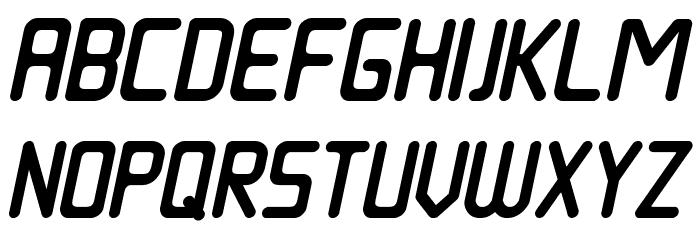 Nowadays Italic फ़ॉन्ट अपरकेस