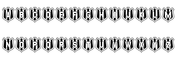 NUFC Shield Font UPPERCASE