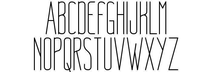 NueLight Font UPPERCASE