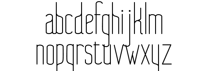 NueLight Font LOWERCASE