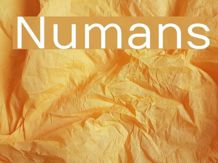 Numans Font examples