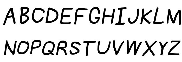 NumbBunny Bold Italic Fonte MAIÚSCULAS