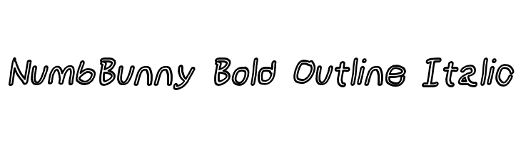 NumbBunny Bold Outline Italic  Free Fonts Download