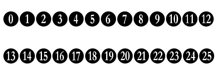 Numberpile फ़ॉन्ट अपरकेस