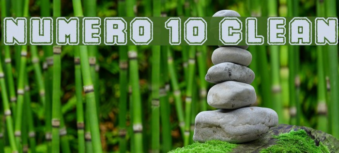 Numero 10 Clean لخطوط تنزيل examples