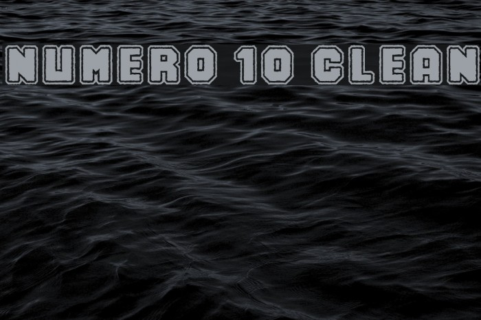Numero 10 Clean Шрифта examples