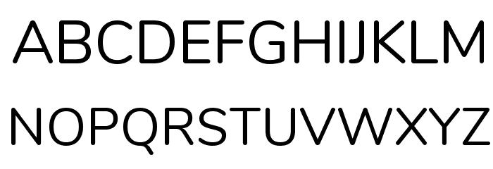 Nunito Regular Font UPPERCASE