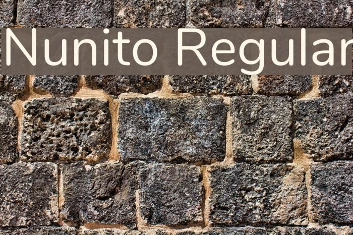 Nunito Regular Font examples