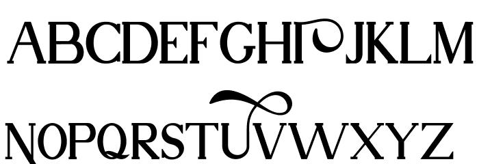 Nuri Free Font UPPERCASE