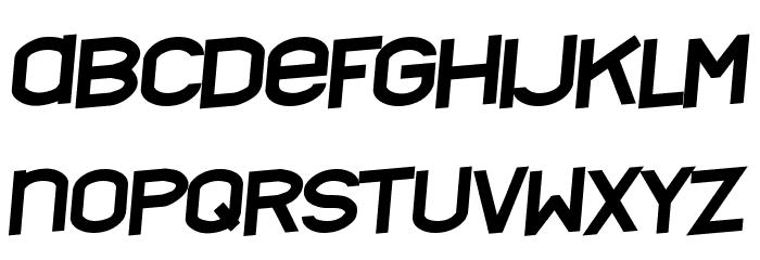 Nyctalopia tilt Font UPPERCASE