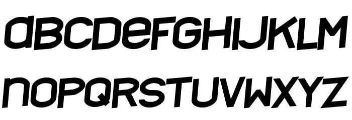 Nyctalopia tilt Font LOWERCASE