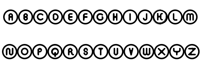 O · CIRCLED ROUNDED CYRILLIC Font Litere mici