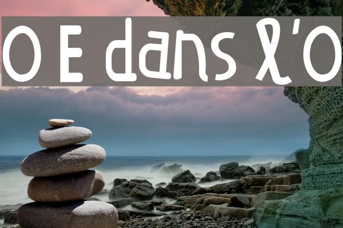 O E dans l'O Caratteri examples