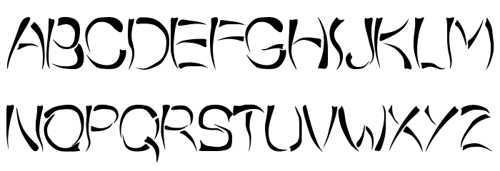 o-wee-ental Font LOWERCASE