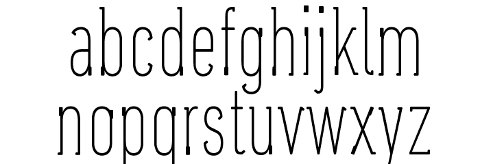 Oaxaque�a Tall Font LOWERCASE