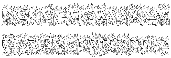 oakland hills 1991 Font LOWERCASE