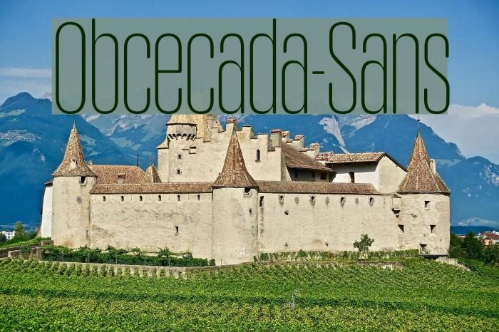 Obcecada-Sans फ़ॉन्ट examples