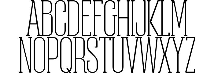 Obcecada-Serif फ़ॉन्ट अपरकेस