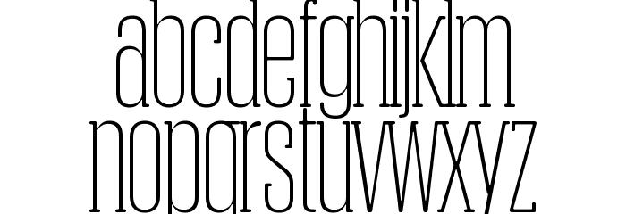 Obcecada-Serif फ़ॉन्ट लोअरकेस