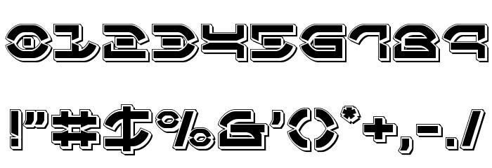 Oberon Deux Punch Font OTHER CHARS