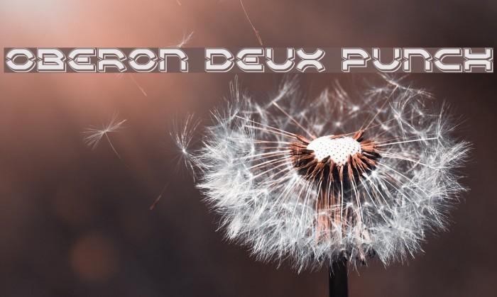 Oberon Deux Punch Font examples