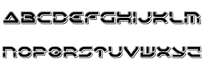 Oberon Deux Punch Font LOWERCASE