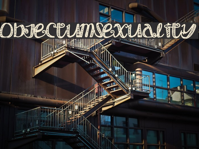 Objectumsexuality font