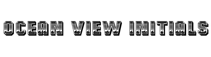 Ocean View Initials  Free Fonts Download
