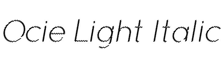 Ocie Light Italic  baixar fontes gratis