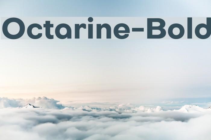 Octarine-Bold फ़ॉन्ट examples